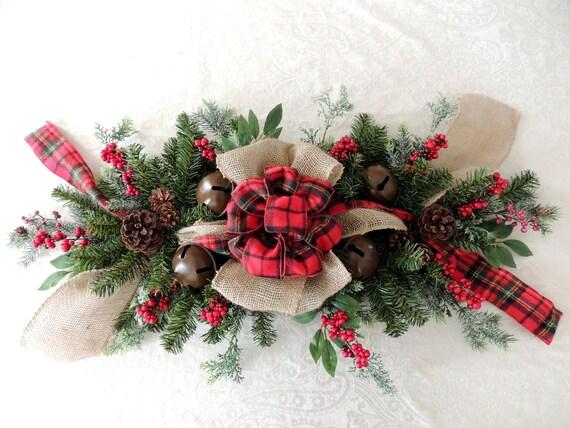 Items similar to pine christmas swag table