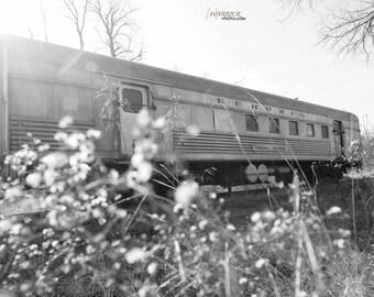 Abandoned train car, Memphis, Federal Express, Marion, Illinois, railroad, railway, train- Photo Print