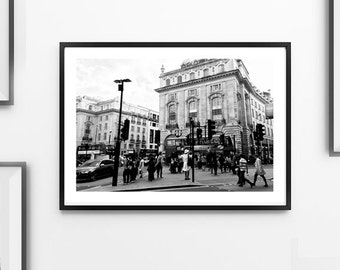 London Print (Black and White Photograph, Wall Art, Home Decor, Digital Print, Instant Download, Unframed or Framed print)
