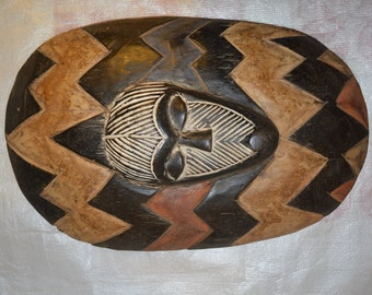 Traditional Central African Tribal Shield
