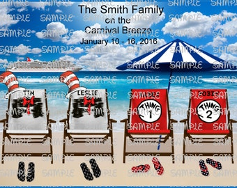 Carnival Cruise Digital Printable Cat In The Hat Character Inspired Custom  Personalized 1 6 Beach