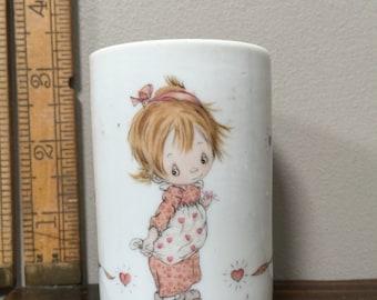 Vintage Hallmark-BETSEY CLARK Vase or Candle Holder