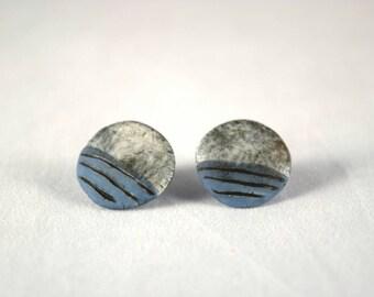 Porcealin Ceramic Stud Earrings