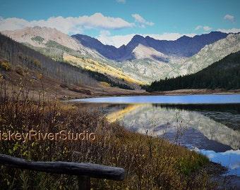 Gore Range at Piney Lake Vail print. Autumn, Canvas photo print. Canvas Photography. Wall Art. 8x10, 11x14, 16x20, 20x24.
