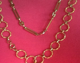 Two Vintage Gold Chains