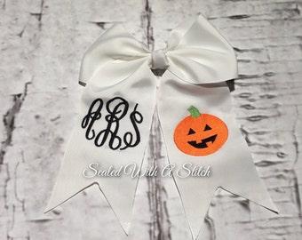 Halloween Bow, Monogrammed