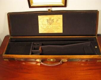 Antique Vintage Victorian Holland & Holland Leather Shotgun Case C1895 rifle gun