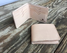 Leather Wallet, husband gift, dad gift, boyfriend gift mens wallet Bifold with six pockets  handmade