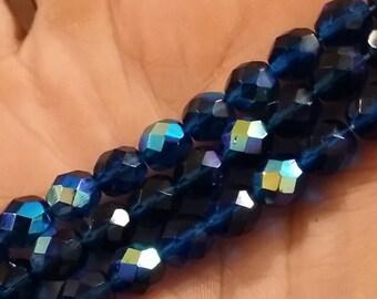 Capri AB 8mm fire polish beads - 50 pcs