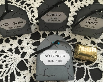 Just 12 Tombstone Hershey Nugget Party Favor Holders