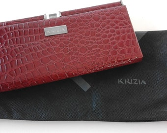 patent leather clutch bag-signed krizia-vintage early