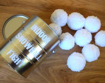 Indoor Snowball Fight - Pretend Play - Family Game Night - Stocking Stuffer - Indoor Game - Unique Game - Snowball Fight - Snowball Toy