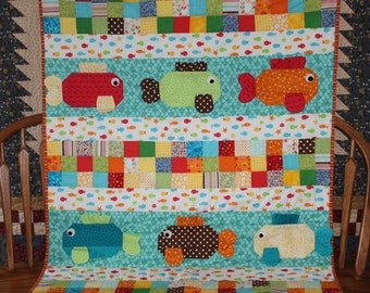 Hook, Line, and Sinker Baby Quilt