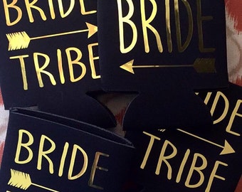 Bride Tribe Can Cooler with monogram or name on the back