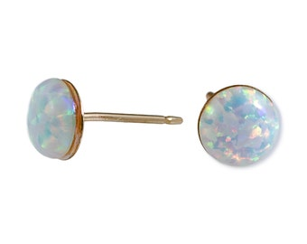 Opal earrings Tiny Opal Stud Earrings 4mm Opal Stud Earrings Gold Filled Studs Opal Silver Earrings,Gift for her,minimalist earrings