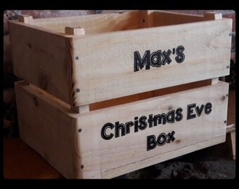 Christmas Eve Box Hamper Crate With Personalisation 45cm X 35 X 29cm