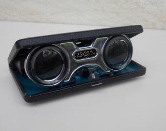 Vintage Japanese Opera Glasses 2.5 x / Japanese Binoculars Theater Glasses / Vintage Binoculars / 1970s Blue Theater Glasses / Gift Idea