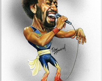 Don Howard's Depiction of Maurice White Limited Edition Celebrity Caricature