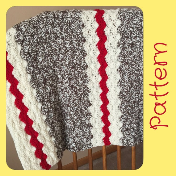 Sock Monkey Baby Blanket Crochet Pattern Crochet Blanket