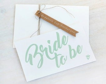 Letterpress Postcard Bride to Be