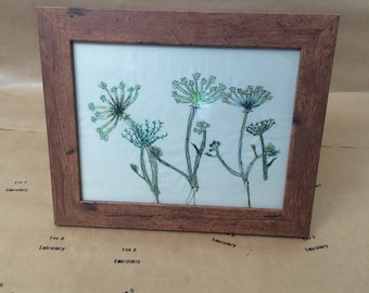 Cow Parsley - freehand embroidery