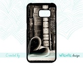 Love retro books heart book covers old vintage library reading lover gift idea Samsung Galaxy s3 s4 s5 s6 s7 case SAMSUNG phone cover .8