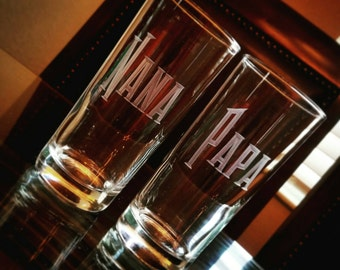 Hand Engraved Personalized Highball Glasses: Set of Two