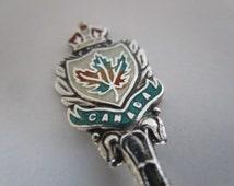 Sterling Silver Souvenir Spoon, Enamel, Victoria B.C. Canada, Vintage.