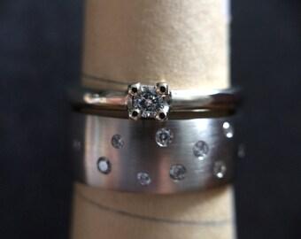 14K Gold & Diamond Wedding Set
