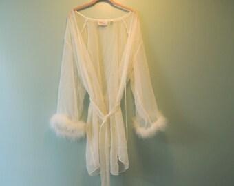 90s Marilyn Monroe Feather Robe