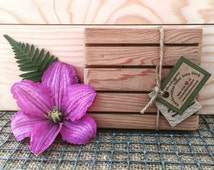Handcrafted Cedar Soap Deck+Gift For Him+Gift For Her+Made In Washington+Natural Wooden Soap Dish+Soap Tray+Bathroom Decor+Draining Dish