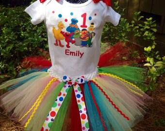Sesame street tutu outfit, Sesame Street birthday set