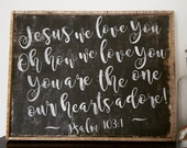 BARNWOOD WALL ART - Jesus we love You... / New Spring Collection