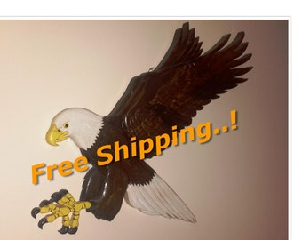"""A great gift Bald Eagle ,Include 103 piece. Home Decor.Measurements: 24.4""""long ,15.4""""wide,1.4"""" thick.--FREE SHIPPING-- Discount Coupon Codes"""