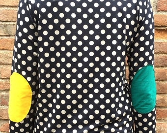 Colored polka dot Jersey patches