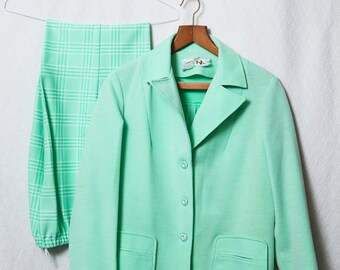 70s Suit Set, Mint 70s Suit Costume, That 70s Show Costume, Women's Complete 70s Suit Set,  70's Retro Suit
