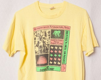 1990 Vintage Yellow Wichita Falls Texas T-shirt, Hotter'n Hell Hundred, Bicyclist Shirt, Texas Hotter'n Hell Hundred Vintage Bike T-Shirt