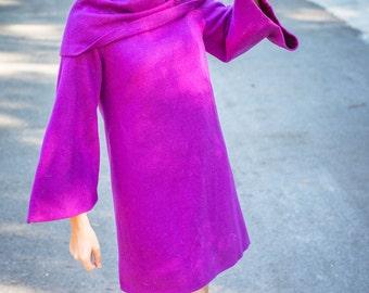 Electric Purple Wool Go-Go Dress