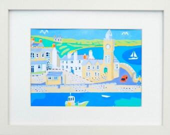 Porthleven, Cornwall, Framed Art Print,  Artist:  Richard Lodey