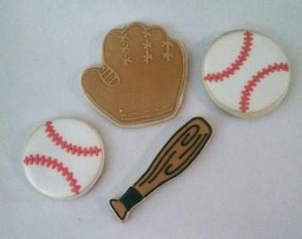 Baseball Themed Sugar Cookies
