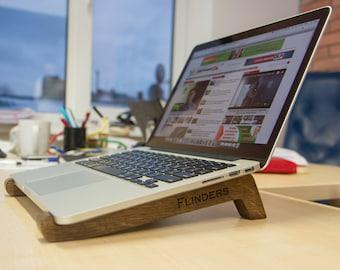 Wooden stand for MacBook Pro & MacBook Air ~iOriginal~Oak Brown.Laptop Stand.Apple Accessories.Luxury Design.Good Gift