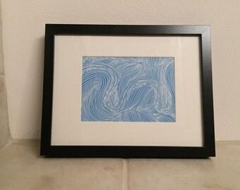 Framed Swirl Design Print