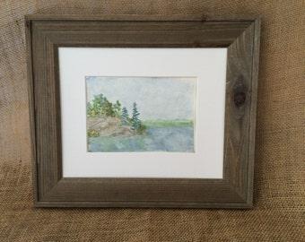 Original Watercolor Painting, Coastal Scene Painting, Rocky Coast Watercolor, Ocean Painting, Landscape Watercolor, Original Watercolor