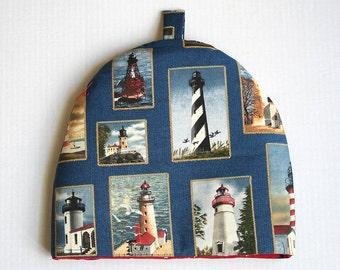 Handmade Lighthouse Pattern Tea Cozy (Cosy)
