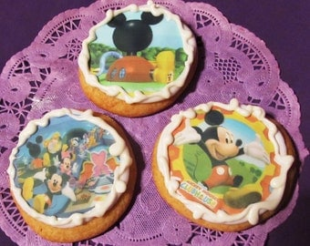 12 MIckey Mouse clubhouse sugar cookies