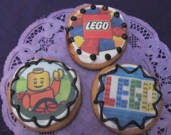 12 Building Blocks sugar cookies