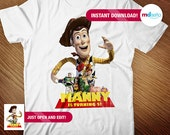 Toy Story Iron On T Shirt Transfer - Toy Story Editable Transfer - Toy Story Iron On - Toy Story INSTANT DOWNLOAD - Toy Story Birthday