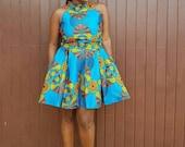 Ekua African Print Maxi Dress/ Ankara Dress / Ankara Gown