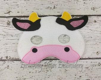 Cow Children's Felt Mask  - Costume - Theater - Dress Up - Halloween - Face Mask - Pretend Play - Party Favor