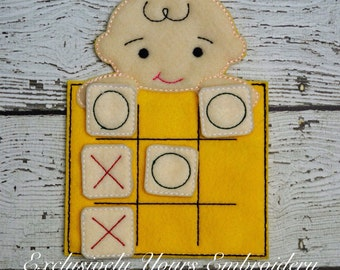 Blockhead Boy Tic Tac Toe Game